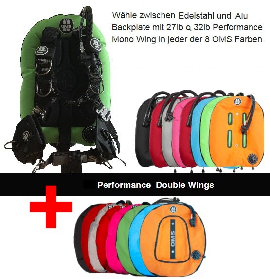 OMS Comfort Harness III Signature mit OMS Performance Mono Wing + Double Wing