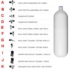 Stahlflasche 7 Liter 300Bar