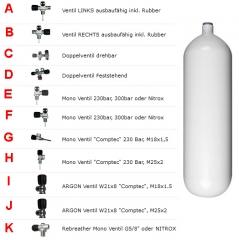 Stahlflasche 10 Liter 300Bar