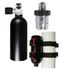 ARGON Füllset 1,5 Liter, G5/8, Flaschen Mounting