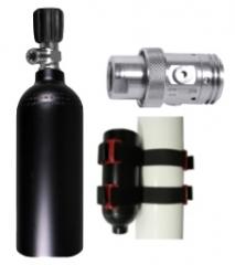 ARGON Füllset 1,5 Liter, Argon Gewinde, Flaschen Mounting