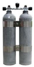 Premium Doppel 7 / 200 bar - ALU natur - MES - V4Tec TankBands